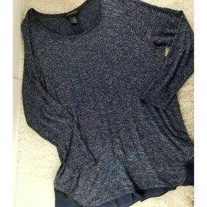 Lane Bryant blue sweater tunic PLUS SIZE 22/24